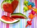 watermelon ice lolly