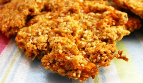 quinoa and carrot cookies